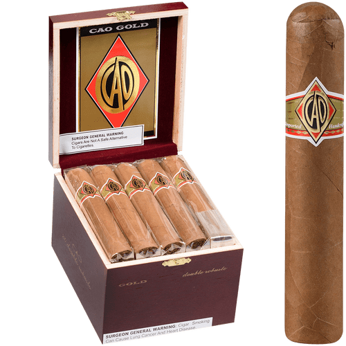 CAO Cigars Gold Label Double Robusto 20 Ct. Box 5.00X56