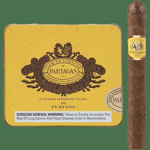Partagas Cigars Puritos 10/10 Packs 4.19X32