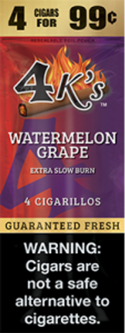 4 Kings Cigars Watermelon Grape 15 Pouches of 4