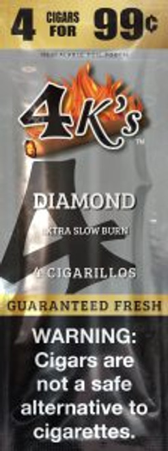 4 Kings Cigars Diamond 15 Pouches of 4