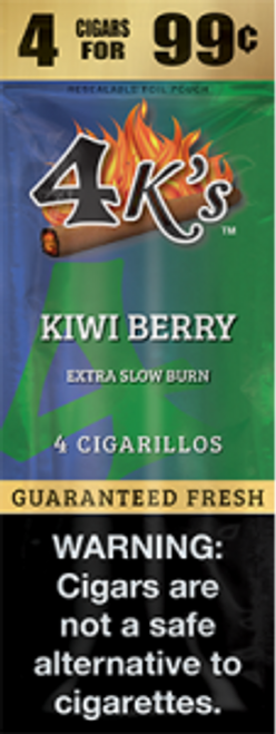 4 Kings Cigars Kiwi Berry 15 Pouches of 4