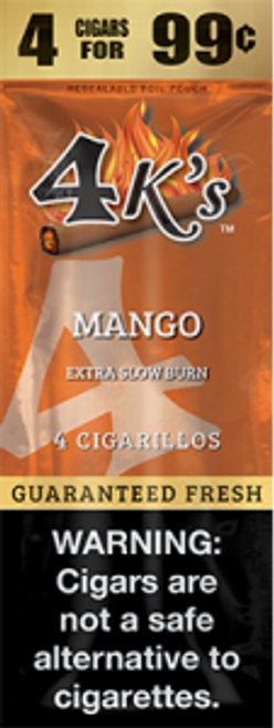 4 Kings Cigars Mango 15 Pouches of 4