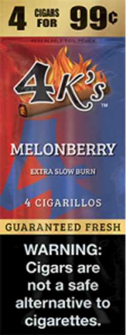 4 Kings Cigars Melon Berry 15 Pouches of 4