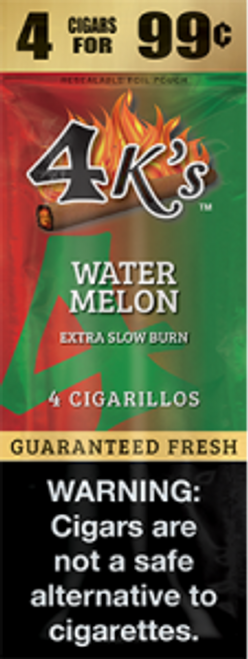 4 Kings Cigars Watermelon 15 Pouches of 4
