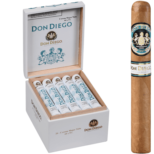 Don Diego Cigars Major Tubes 20 Ct. Box 5.63x44