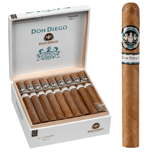 Don Diego Cigars Churchill 25 Ct. Box 7.00x54