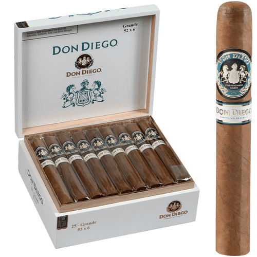 Don Diego Cigars Grande 25 Ct. Box 6.00x52