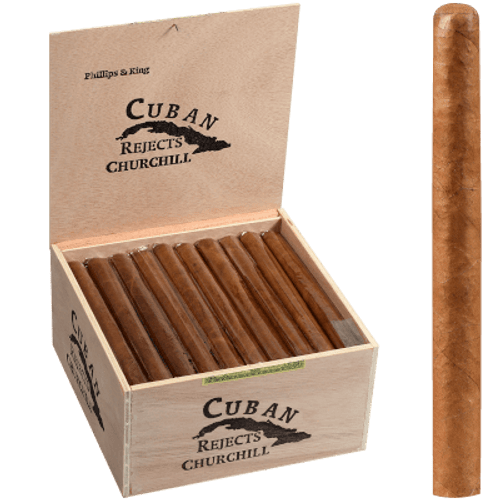 Cuban Rejects Cigars Churchill Natural 50 Ct. Box