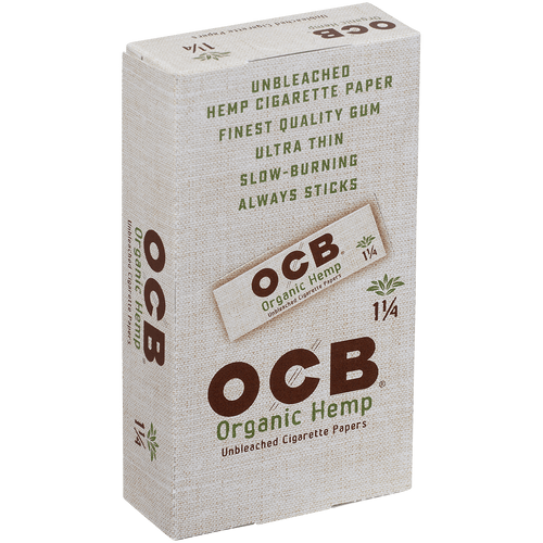 OCB Cigars Papers Organic Hemp 1 ¼ 24/50 Ct. Box