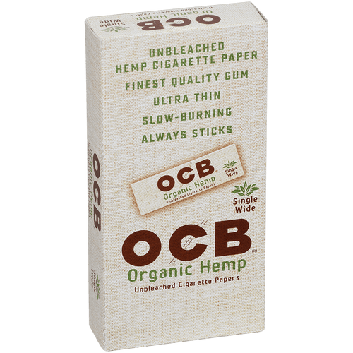 OCB Cigars Papers Organic Hemp Single Wide 24/50 Ct. Box