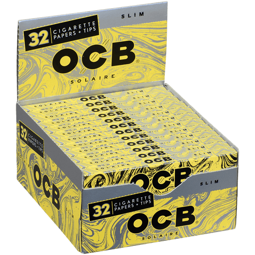 OCB Cigars Papers Organic Solaire King Size Slim 24/32 Ct. Box