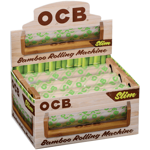 OCB Cigars Bamboo Rolling MachineRoller Slim 6 Ct. Box
