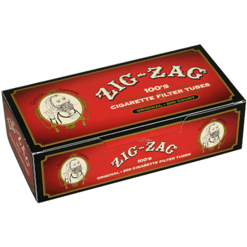 Zig Zag Cigarette Filter Tubes 100mm Full Flavor 200 Ct. Box