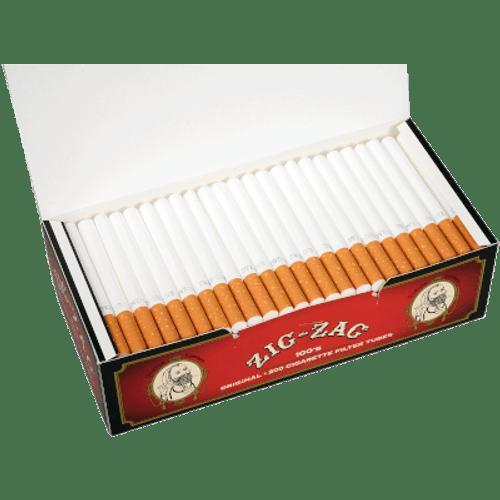 Zig Zag Cigarette Filter Tubes 100mm Full Flavor 200 Ct. Box