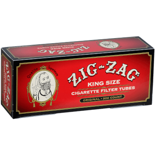 Zig Zag Cigarette Tubes King Size 200 Ct. Box
