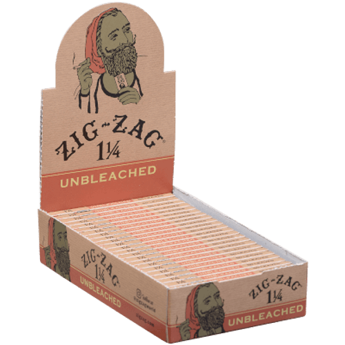 Zig Zag Unbleached 1 1/4 Papers 25 Ct. Box