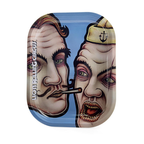 Lion Rolling Circus Mini Rolling Tray- Blue