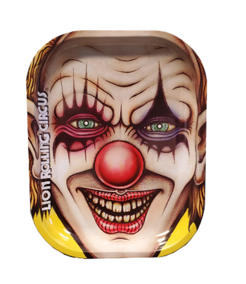 Lion Rolling Circus Mini Rolling Tray- Yellow Clown