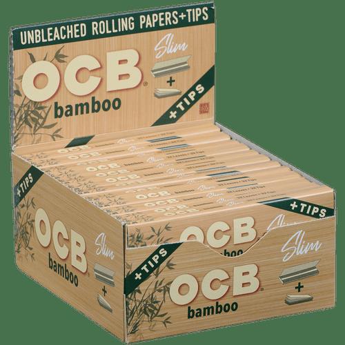OCB Bamboo Slim Papers 24/40 Ct. Box