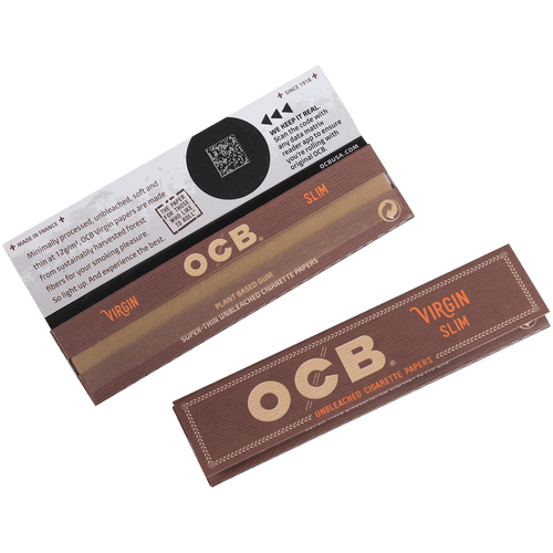 OCB Unbleached Papers Virgin King Slim 24/32 Ct.