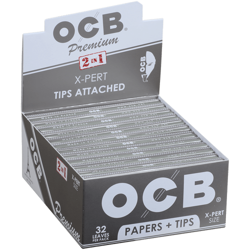 OCB Papers Premium X-Pert Size Plus Tip 24/32 Ct. Box