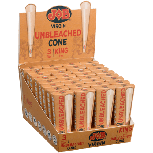 JOB Virgin King Pre-rolled Cones 32/3 Ct. Display