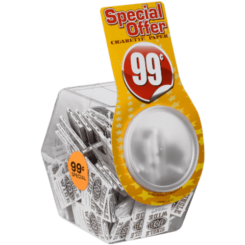 JOB Rolling Papers Single Wide  100 Ct. Display Jar