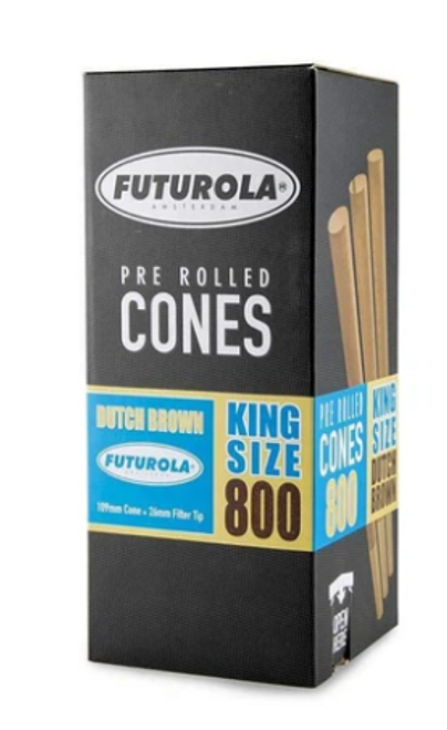 Futurola Cones King Size Dutch Brown 800ct