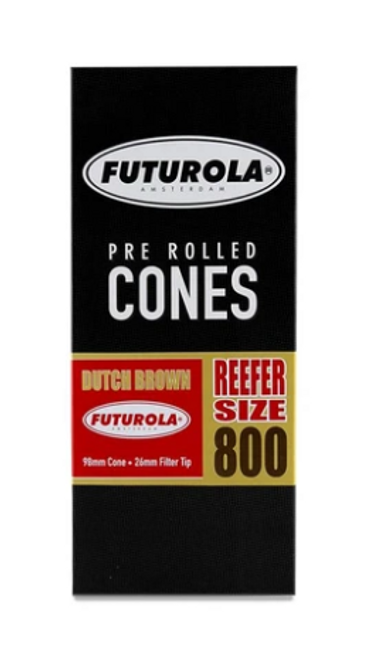 Futurola Cones Reefer Size Dutch Brown 800 Ct