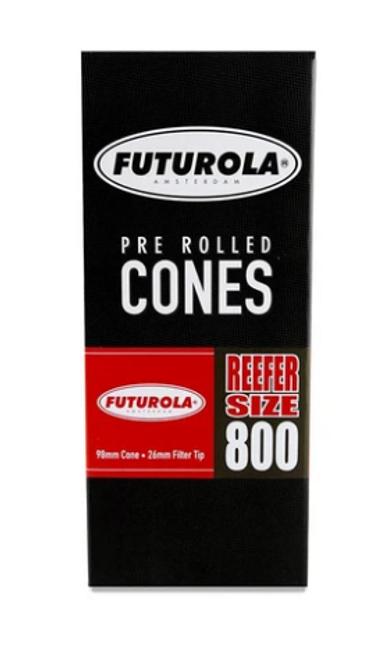 Futurola Cones Reefer Size Classic White 800 Ct