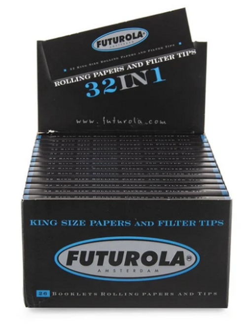 Futurola King Size Rolling Papers + Tips - 26ct
