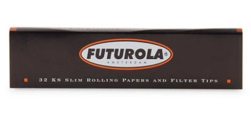 Futurola King Size Slim Rolling Papers + Tips - 26ct