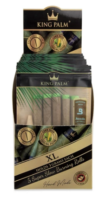 King Palm Pre-Rolls - 5pk w/ Boveda - XL Size - 15ct