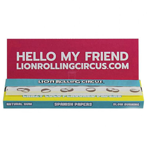 """Lion Rolling Circus 1 1/4"""" Crazy Coco Rolling Papers"""