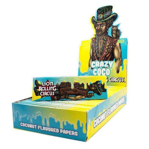 "Lion Rolling Circus 1 1/4"" Crazy Coco Rolling Papers"