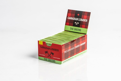 Canadian Lumber Green Rolling Papers  1 1/4 With Filters 22 Packs