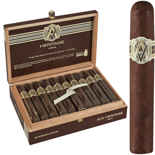 AVO Cigars Heritage Robusto 20 Ct. Box 4.87X50