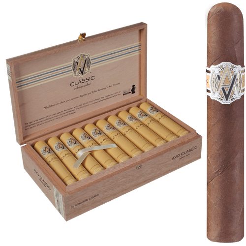 AVO Cigars Classic Robusto Tubos 20 Ct. Box 5.00X50