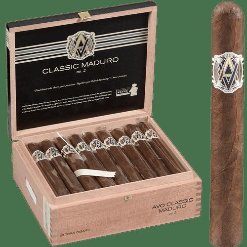 AVO Cigars Classic Maduro No.2 Toro 25 Ct. Box 6.00x50