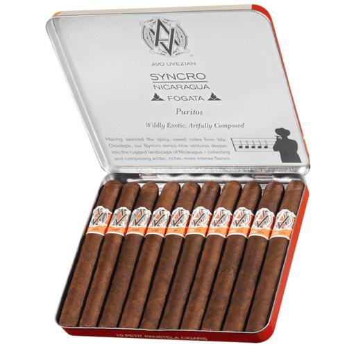 AVO Cigars Syncro Nicaragua Fogata Puritos 10/10 Tins 4.00X30
