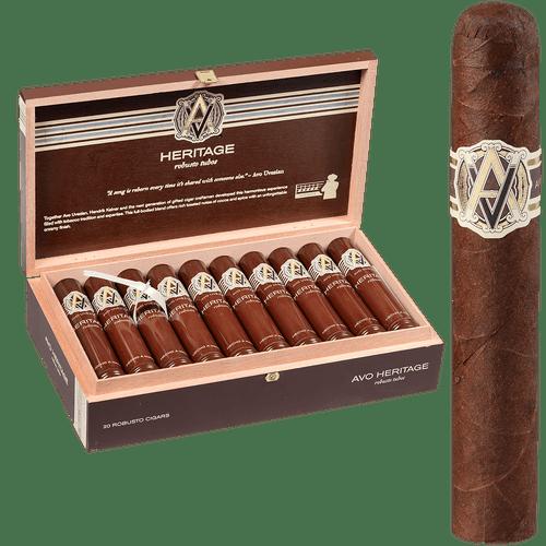 AVO Cigars Heritage Robusto Tubos 20 Ct. Box 4.87X50