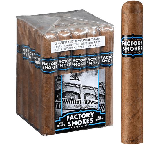 Factory Smokes Cigars Sungrown Gordito 25 Ct. Bundle 6.00x60