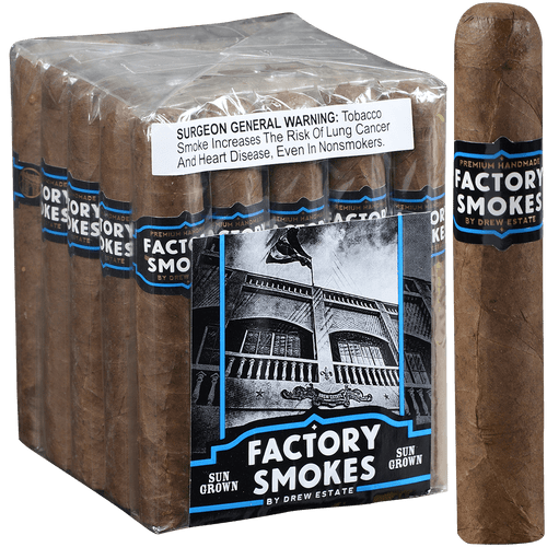 Factory Smokes Cigars Sungrown Robusto 25 Ct. Bundle 5.00x54