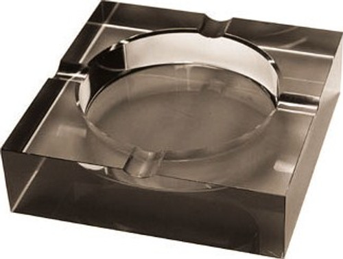 Black Glass Cigar Ashtray