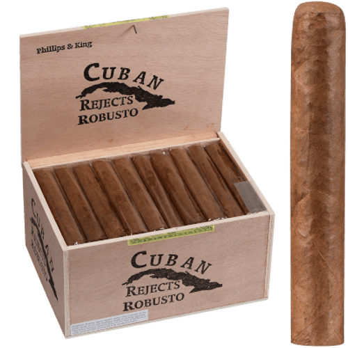 Cuban Rejects Cigars Robusto Natural 50 Ct. Box