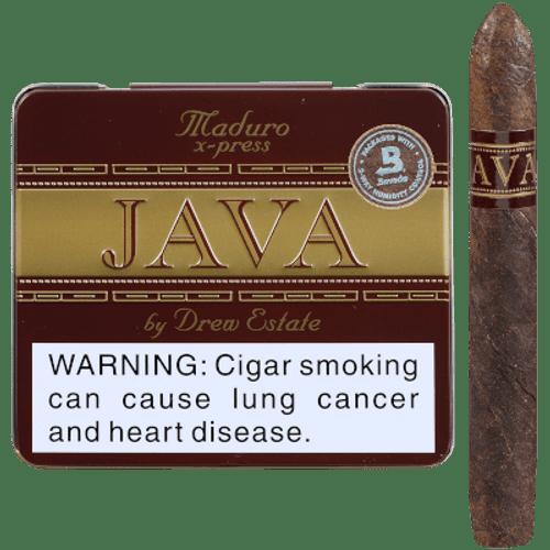 Java By Drew State Cigars Maduro X-Press 5/10 Tins