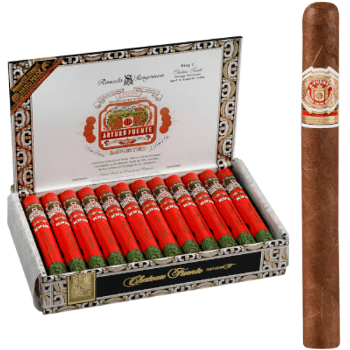 Arturo Fuente Cigars Chateau Fuente King T Rosado Sun Grown Aluminum Tubes 24 Ct.
