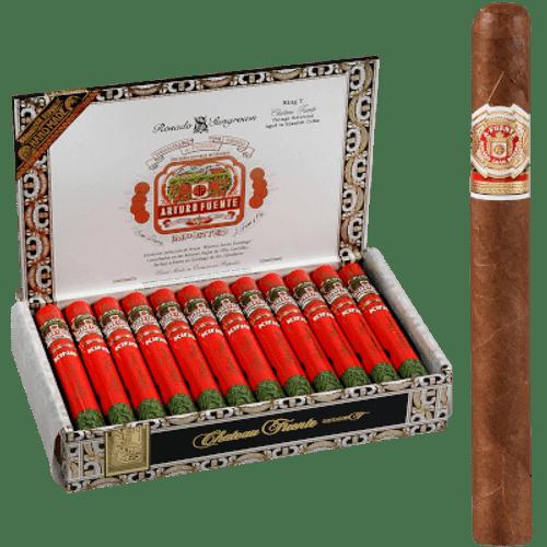 Arturo Fuente Cigars Chateau Fuente King T Rosado Sun Grown Aluminum Tubes 24 Ct.