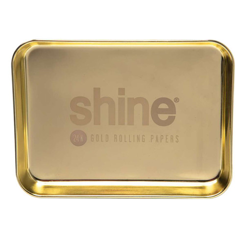 """Shine Gold Rolling Tray - 9.25"""" x 7"""""""