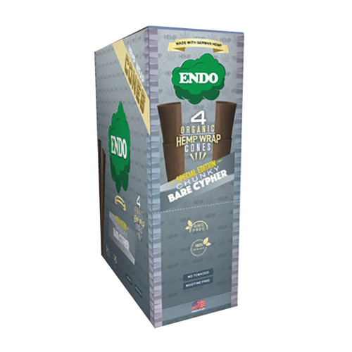 Endo Organic Hemp Wrap Cones Natural 4pk 15pc